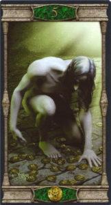 5 Пентаклей Таро Вечная Ночь Вампиров