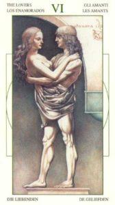 6 Влюбленные Таро Леонардо Leonardo da Vinci Tarot