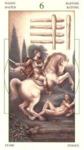 6 Жезлов (Булавы)Таро Леонардо Leonardo da Vinci Tarot