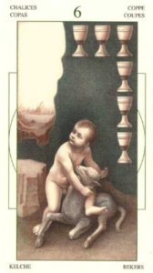 6 Чаш (Кубков) Таро Леонардо Leonardo da Vinci Tarot