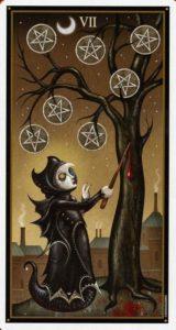 7 Пентаклей Таро Девиантной Безумной Луны Deviant Moon Tarot
