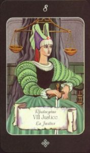 8 Правосудие Таро эры Водолея