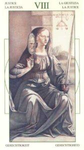 8 Справедливость Таро Леонардо Leonardo da Vinci Tarot