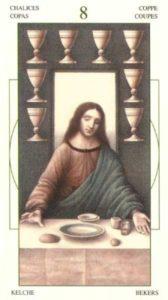 8 Чаш (Кубков) Таро Леонардо Leonardo da Vinci Tarot
