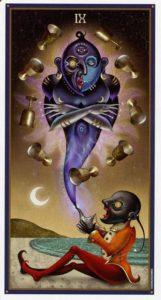 9 Кубков Таро Девиантной Безумной Луны Deviant Moon Tarot