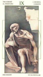 9 Отшельник Таро Леонардо Leonardo da Vinci Tarot