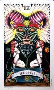 15 Аркан Дьявол Eight Coins Tattoo Tarot