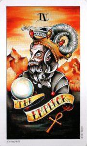 4 Аркан Император Eight Coins Tattoo Tarot